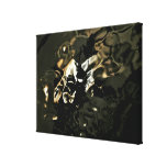 Abstract leaves reflection fine art on canvas canvas print