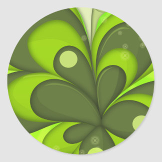 Abstract Leaves Sticker