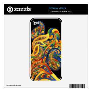 Abstract Leaves Zazzle Skin Skin For The iPhone 4