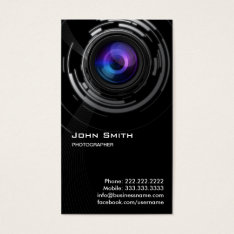Abstract Lens Swirl Photographer Business Card at Zazzle