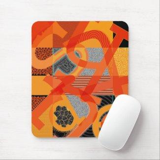 Abstract Letter Art Mousepad by Heard_ mousepad