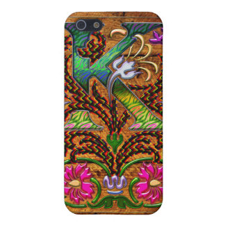 Abstract Letter K Floral Monogram Art Case For iPhone 5