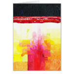 Abstract letter landscape greeting card