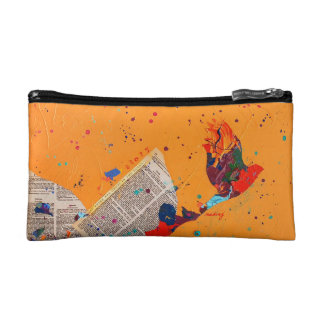 Abstract Letter Trail Bag Makeup Bag