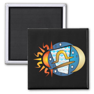 Abstract Libra Magnet