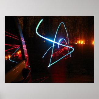 Abstract light art. poster