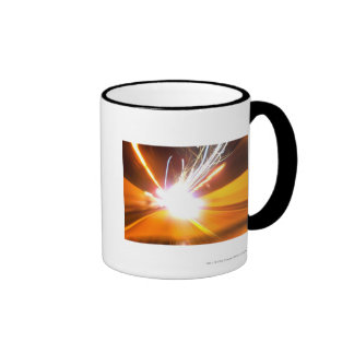 Abstract light beams and effects coffee mugs