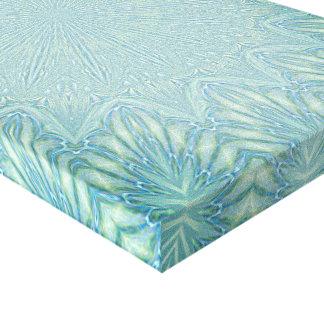 Abstract Light Blue Mandala Flower Wall Art