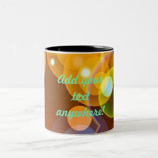 Abstract Light Orbs Two-Tone Coffee Mug