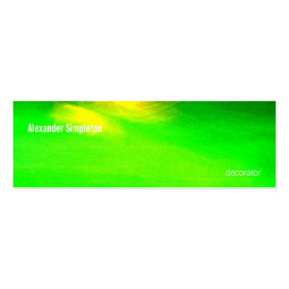 Abstract Light Painting 01 Greenacrageless Double-Sided Mini Business Cards (Pack Of 20)