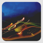 Abstract Light Painting 40 Swoped Square Sticker