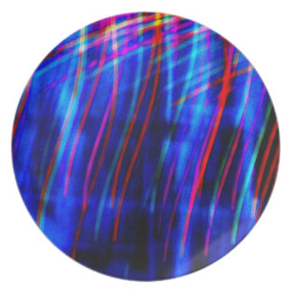 "Abstract Light Painting Photo ""Curtainia"" Dinner Plate"