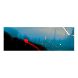 "Abstract Light Painting Photo ""Shellakedy"" Mini Business Card"