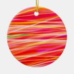 Abstract Light Steaks Christmas Tree Ornament