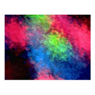 Abstract light texture postcard
