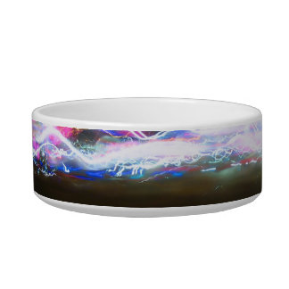 Abstract Light Trails Bowl