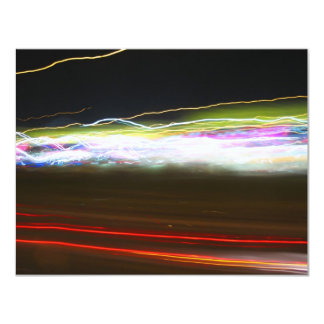 Abstract Light Trails Card
