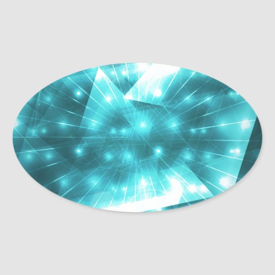 Abstract lighting background oval sticker