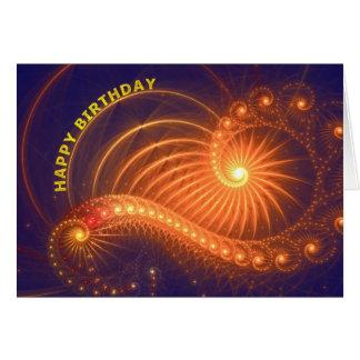 Abstract lights Birthday card