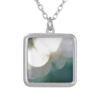 Abstract lights square pendant necklace