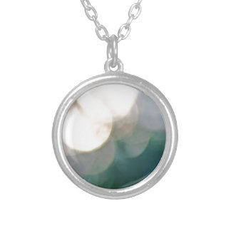 Abstract lights round pendant necklace
