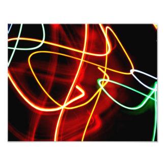 Abstract lights photo print
