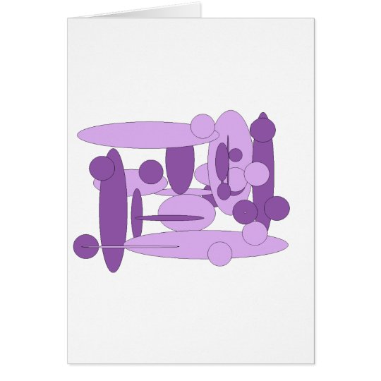 Abstract lilac card