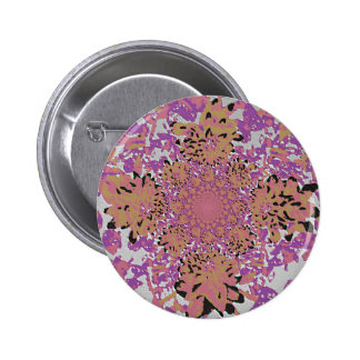 Abstract Lilac Mauve  Floral Dahlia Flower Pattern Buttons