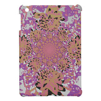 Abstract Lilac Mauve  Floral Dahlia Flower Pattern Cover For The iPad Mini