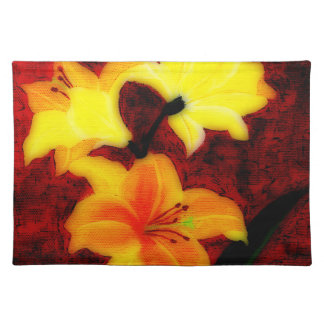 Abstract Lillies Placemat