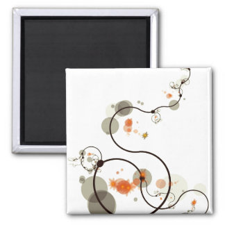 Abstract Line Art Refrigerator Magnet