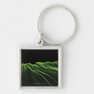 Abstract Line Pattern 2 Keychain