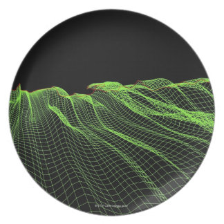 Abstract Line Pattern 2 Melamine Plate