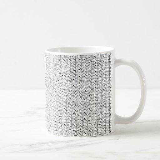 Abstract line pattern classic white coffee mug