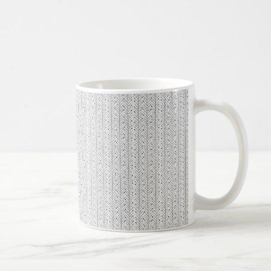 Abstract line pattern coffee mug