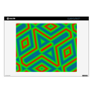 Abstract line pattern laptop skin