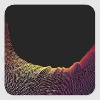 Abstract Line Pattern Square Sticker