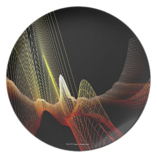 Abstract Line Plate