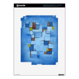 Abstract Line Series Blue 2 Decals For iPad 3