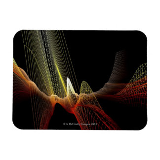 Abstract Line Vinyl Magnets