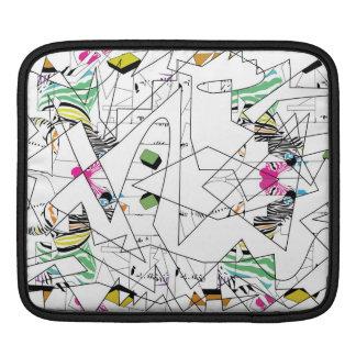 Abstract line-work zebra print- Ipad iPad Sleeve