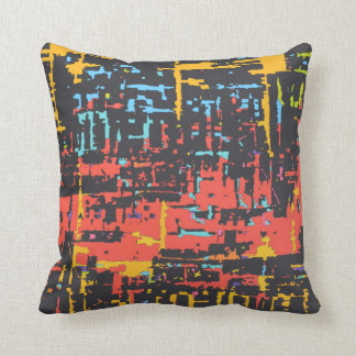 abstract lineal movement throw pillow