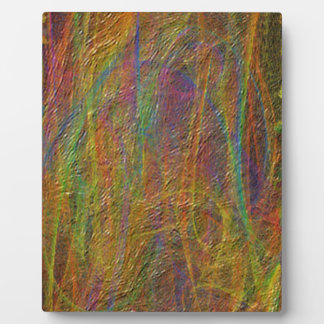 Abstract Linear Textured Pattern Plaque