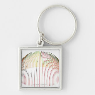 Abstract Lines 2 Keychain