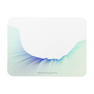 Abstract Lines 3 Rectangle Magnet