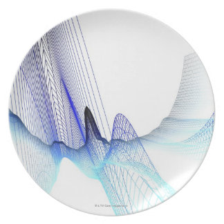 Abstract Lines 4 Melamine Plate