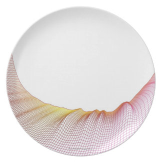 Abstract Lines 5 Melamine Plate