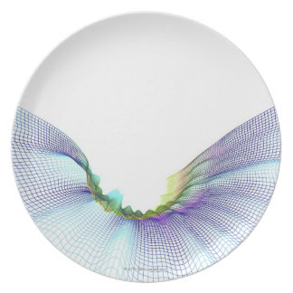 Abstract Lines 7 Melamine Plate