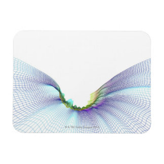 Abstract Lines 7 Rectangle Magnet