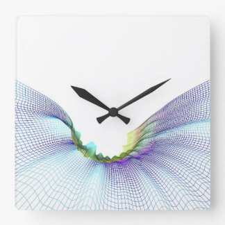 Abstract Lines 7 Square Wall Clock